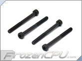 M4 x 45mm Radiator Mount Hex Socket Cap Screws - Black - 4 Pack (Danger Den / Hardware Labs)