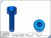 M3-0.5 x 10mm Socket Head Screws - Aluminum - Anodized Blue 4-Pack