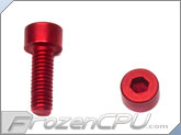 M4-0.7 x 10mm Socket Head Screws - Aluminum - Anodized Red 4-Pack