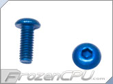 M3-0.5 x 10mm Button Head Screws - Aluminum Anodized Blue 4-Pack