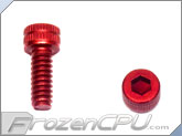 "6-32 x 3/8"" Socket Head Screws - Aluminum Anodized Red 4-Pack"
