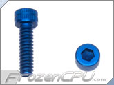 "6-32 x 1/2"" Socket Head Screws - Aluminum Anodized Blue 4-Pack"