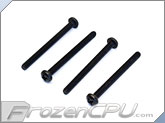 "6-32 x 1 5/8"" Pan Head Screws - Stainless Steel - Black - 4-Pack"