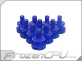Mod/Smart Poly Thumbscrews - 6-32 Thread - 10 Pack - UV Blue (TSN-UB)