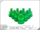 Mod/Smart Poly Thumbscrews - 6-32 Thread - 10 Pack - UV Green (TSN-UG)