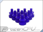 Mod/Smart Poly Thumbscrews - 6-32 Thread - 10 Pack - UV Purple (TSN-UP)
