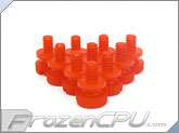 Mod/Smart Poly Thumbscrews - 6-32 Thread - 10 Pack - UV Red (TSN-UR)