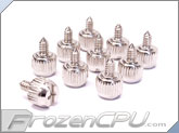 Mod/Smart Steel 6-32 Thread Thumbscrews - 10 Pack - Silver (TS-S)