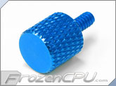 FrozenCPU Easy Grip Anodized Aluminum Thumbscrew - BLUE