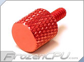 FrozenCPU Easy Grip Anodized Aluminum Thumbscrew - RED