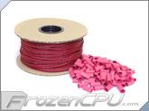 "Mod/Smart Kobra High Density Single Braid Sleeving Kit 1/8"" - 200 Feet UV Red Sleeving / 125 Precut 15mm Red Heatshrink (SPOOL18-UR-15mm)"