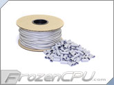 "Mod/Smart Kobra High Density Single Braid Sleeving Kit 1/8"" - 200 Feet Silver Sleeving / 125 Precut 15mm Silver Heatshrink (SPOOL18-S-15mm)"