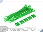 "Mod/Smart Tie Wrap Kit - 7"" - UV Green (TW-7KIT-UG)"