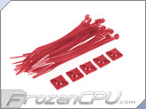 "Mod/Smart Tie Wrap Kit - 4"" - UV Red (TW-4KIT-UR)"