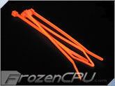 "3.5"" Red UV Reactive Tie Wraps (10 Pack)"