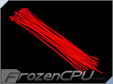 "7"" Red UV Reactive Tie Wraps (10 Pack)"
