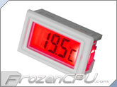 LCD Digital CompuNurse Thermometer w/ LED Backlight - RED