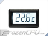 XSPC LCD Temperature Sensor V2 - White Backlight w/ G1/4 Sensor Plug
