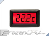 XSPC LCD Temperature Sensor V2 - Red Backlight w/ G1/4 Sensor Plug