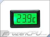 XSPC LCD Temperature Sensor V2 - Green Backlight w/ G1/4 Sensor Plug