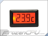 XSPC LCD Temperature Sensor V2 - Orange Backlight w/ G1/4 Sensor Plug