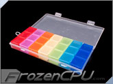 21 Compartment Transparent Plastic Storage Parts Box (7 x 3 Color Coded)
