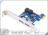 Silverstone EC04 PCI Express Card w/ 2 x USB3.0 Connector and Internal Dual Port
