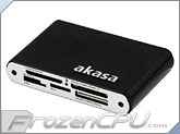 Akasa Elite Luxury Aluminium External Card Reader - Leather Finish (AK-CR-02BK)