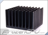 Chipset Heatsink w/ 3M-8810 Adhesive - 37mm x 37mm x 24mm - Anodized Black