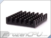 Aavid Thermalloy Low Profile Chipset Heatsink w/ 3M-8810 Adhesive - 27mm x 27mm x 5mm - Anodized Black