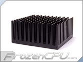 Alcatel Server Grade Chipset Heatsink w/ Thermally Conductive Adhesive - 53mm x 53mm x 25mm - Anodized Black