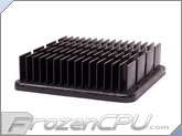 Aavid Thermalloy Northbridge / Southbridge Heatsink - 44mm x 44mm x 12mm - Anodized Black