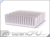 High Performance Heatsink w/ Thermally Conductive Adhesive - 50mm x 50mm x 15mm - Silver