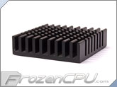 Low Profile Chipset Heatsink w/ 3M-8810 Adhesive - 38mm x 38m x 10mm - Anodized Black