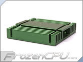 Low Profile Chipset Heatsink w/ Thermally Conductive Adhesive - 37mm x 37mm x 8mm - Anodized Green