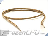"Mod/Smart Kobra MAX Pre-Sleeved ATX Female to Female Extension Wire - 16"" - Tan (KMX-A16FF-T)"