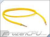 "Mod/Smart Kobra MAX Pre-Sleeved ATX Female to Female Extension Wire - 16"" - Yellow (KMX-A16FF-Y)"