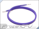 "Mod/Smart Kobra SS Pre-Sleeved Molex Male to Female Extension Wire - 24"" - UV Purple (WIRE-M24MF-UP)"