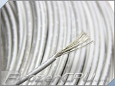18AWG High Voltage / High Temperature UL3239 Silicone Rubber Wire - White