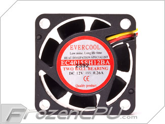 Evercool EC3010M12CA 30mm x 10mm 12v Cooling Fan 3 pin 4 Pin connector