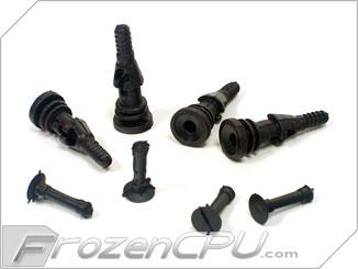 Deluxe Rubber Fan Push Pins For Open Chassis Fan Black