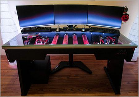 Redharbinger Cross Desk - Ultimate Liquid Cooling Ready ...